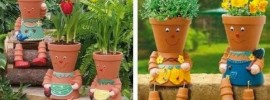 DIY Clay Flower Pot People for Your Garden