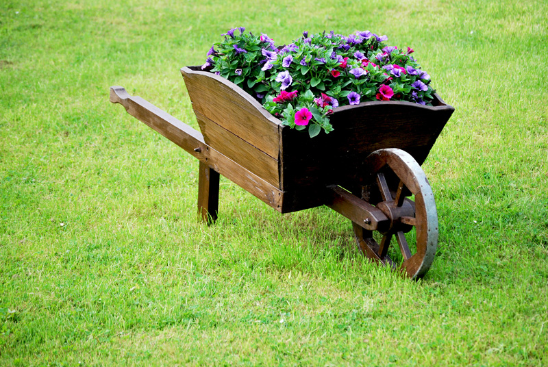 wheelbarrow wooden 01