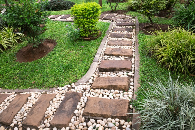 Image result for stones pathway