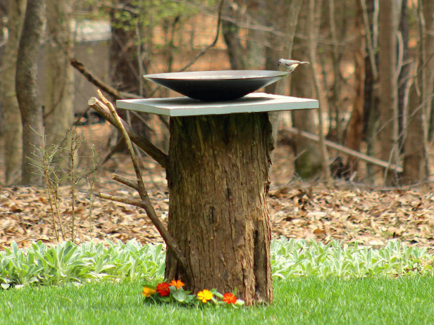 Have A Tree Near Your Garden That Youu0027ll Be Getting Rid Of? Well Utilize  The Stump With This Ingenious Bird Bath Design! Nature Is Our Friend, ...