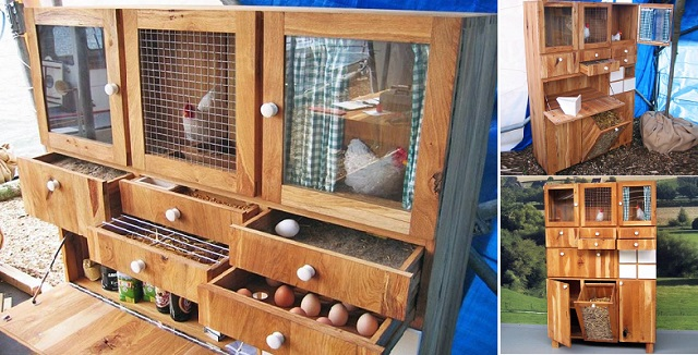DIY-Backyard-Chicken-Coop-from-cabinet