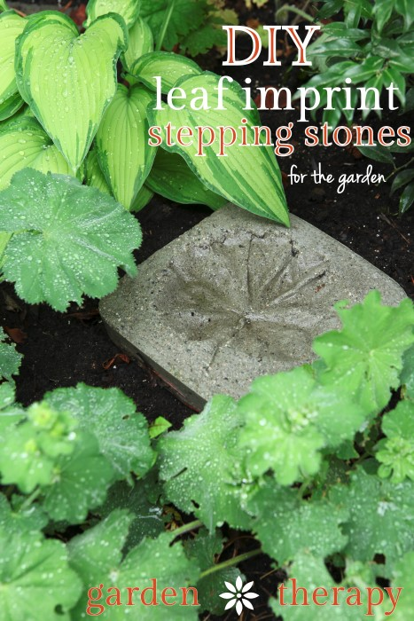 DIY-Leaf-Impring-Stepping-Stones-simply-and-inexpensively-made-from-concrete-make-plenty-for-the-garden