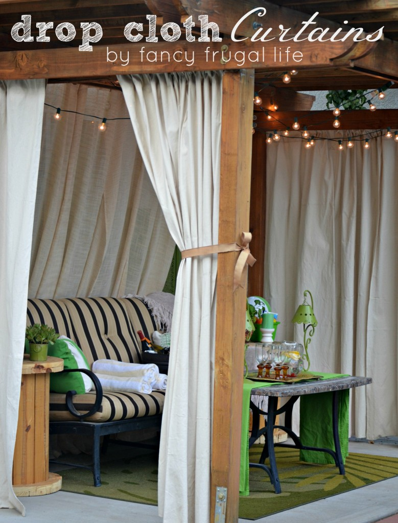 Drop Cloth Curtains fancyfrugallife.com