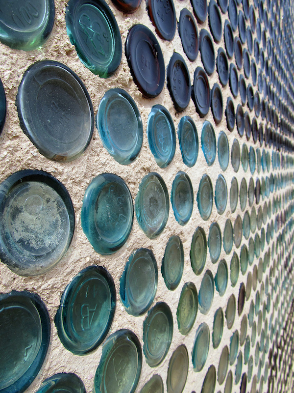 Recycled Bottles Wall jschumacher.typepad.com