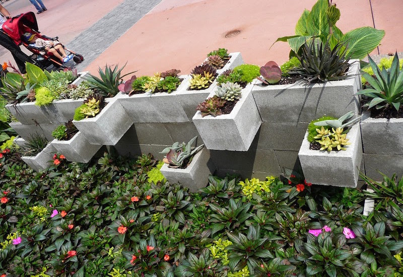Cement-Block-Planter