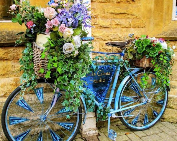 30 Mind-Blowing Bicycle Planter Ideas For Your Garden or On-The-Go on quirky animals, quirky art, quirky signs, quirky garden ideas,