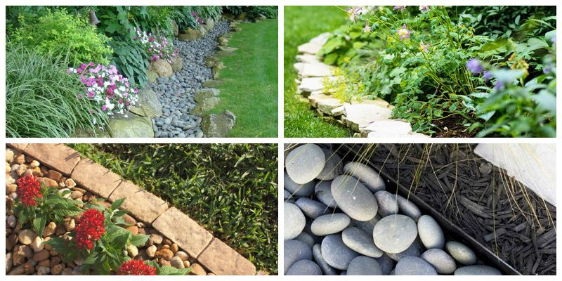 10 Garden Edging Ideas With Bricks and Rocks - Garden rs ... on stone walkways ideas, stone fireplaces ideas, stone fencing ideas, stone fire pits ideas, stone paths ideas, stone shed ideas, stone mulch ideas,