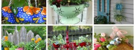 17 Fresh and Fancy Recycled Hanging Baskets