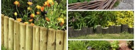 10 Garden Edging Ideas with Wood for an Earthy Garden
