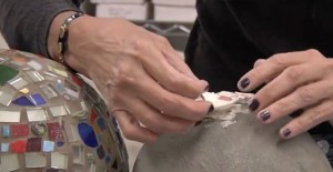 How to Attach Mosaic Tiles on a Gazing Ball