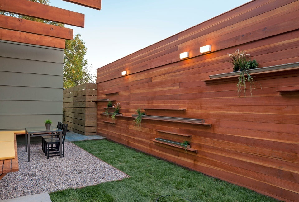 15 Fence Planters That'll Have You Loving Your Privacy Fence Again on small garden for privacy, windowsill ideas for privacy, deck ideas for privacy, small front yard landscaping for privacy,