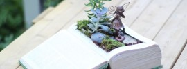 How to Transform an Old Book into a Small Fairy Garden (VIDEO)