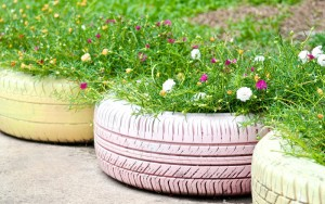 Transform an Old Tire into A Lovely Flower Planter