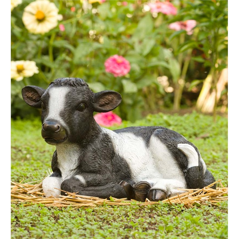 There isn't much that can help describe this adorable little sculpture of a baby cow. It's cute, and that's the appeal! A piece like this would probably go best with a handful of other animal sculptures, making your garden into a sort of storybook farm.