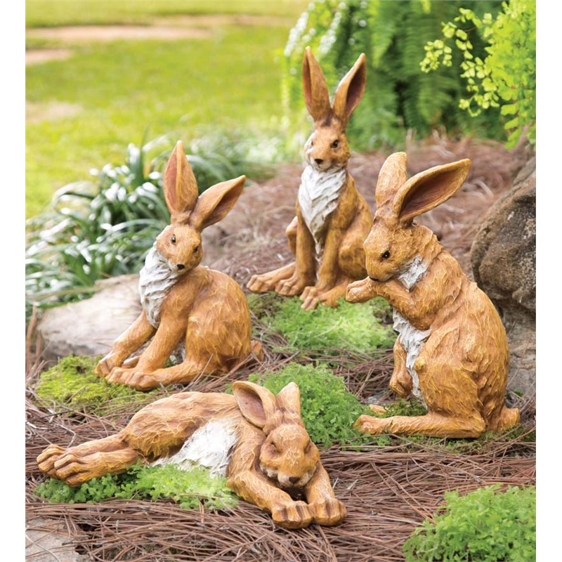 We love the sincere and cartoonish look of many of these garden accessories, but sometimes what's preferred is a more natural representation. If you're looking for adorable in nature, you can't do much better than rabbits. These gentle creatures represent peace and beauty, and they'll make the perfect placid addition to your garden. Unlike the real deal, they won't eat all of your plants!