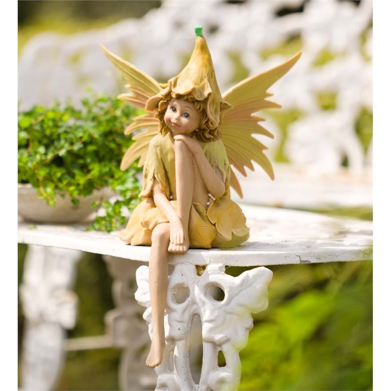 Speaking of fairy gardens, we've got one of the titular creatures right here. Designed to be placed on a tabletop, fence post, or even stone garden wall, this highly detailed, hand-carved fairy may be small, but it makes up for a lack of size with a heartfelt presence. The amount of detail in the carving here can't be emphasized enough.