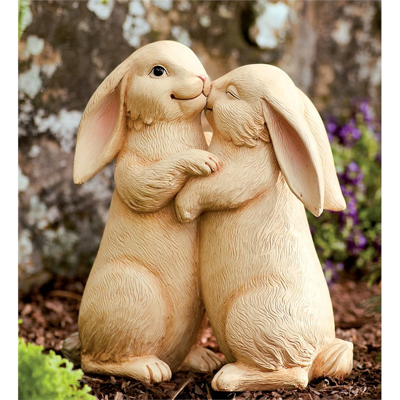 If you love adorableness, you cannot deny the appeal of this pair of happy, nuzzling bunnies. The perfectly carved pair is the sort of garden accessory we always saw while growing up and visiting our grandmothers' homes. It's sentimental, sweet, and for some people, the pinnacle of what you could place in a garden, other than plants themselves.