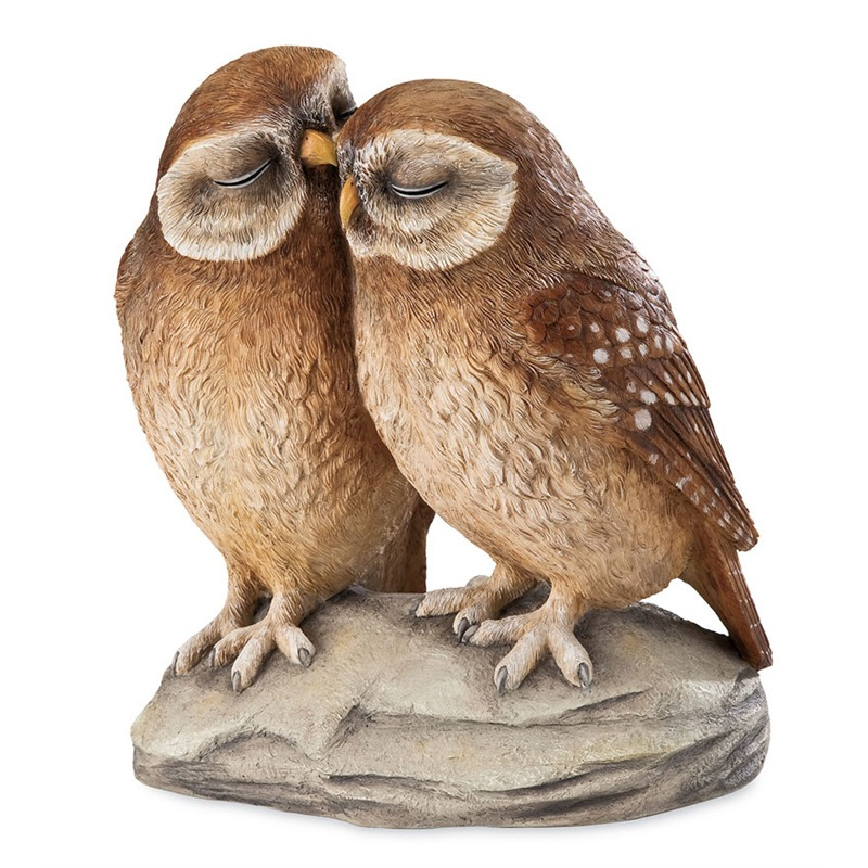 These owls might also be exactly what they seem: a pair of love birds rendered realistically, perfectly framed for your garden or lawn. Place this sculpture up high on a fence, a wall, or a large stone in the yard, or set it into the garden for a more subtler look. They might not scare away pest animals, but they'll make you smile every time you catch a glimpse.