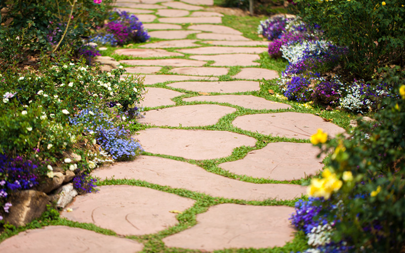 Garden Path Stepping Stones 07
