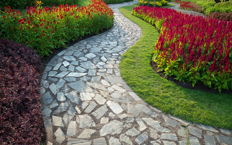 Charmant Garden Path Stepping Stones 08