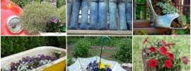 20 Out of The Ordinary Recycled Garden Planters
