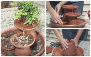DIY – How To Build a Terra Cotta Fountain in 7 Steps