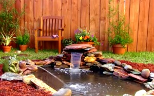 Easy Way To Add a Small Waterfall to Your Pond